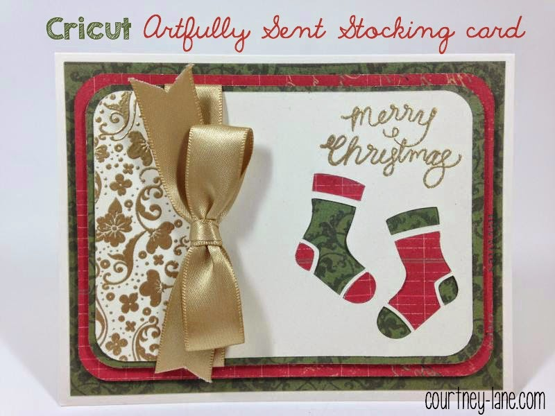 Close To My Heart Artfuly Sent Cricut Stockings card