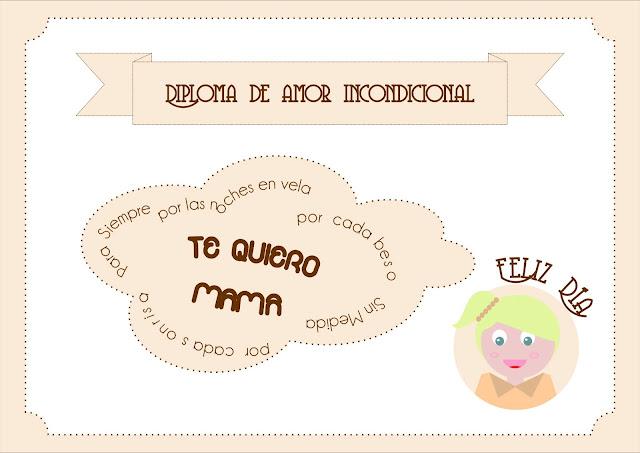 diploma personalizado dia de la madre
