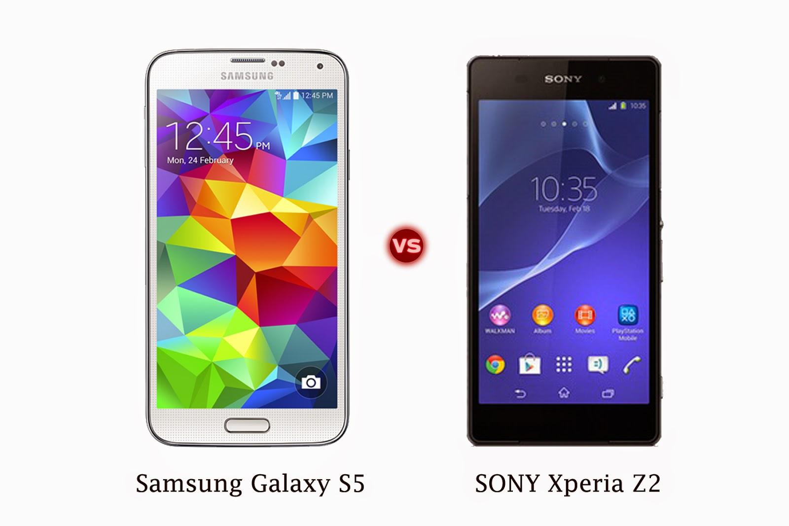 ineggmedia: Sony Xperia Z2 vs Samsung Galaxy S5 ...