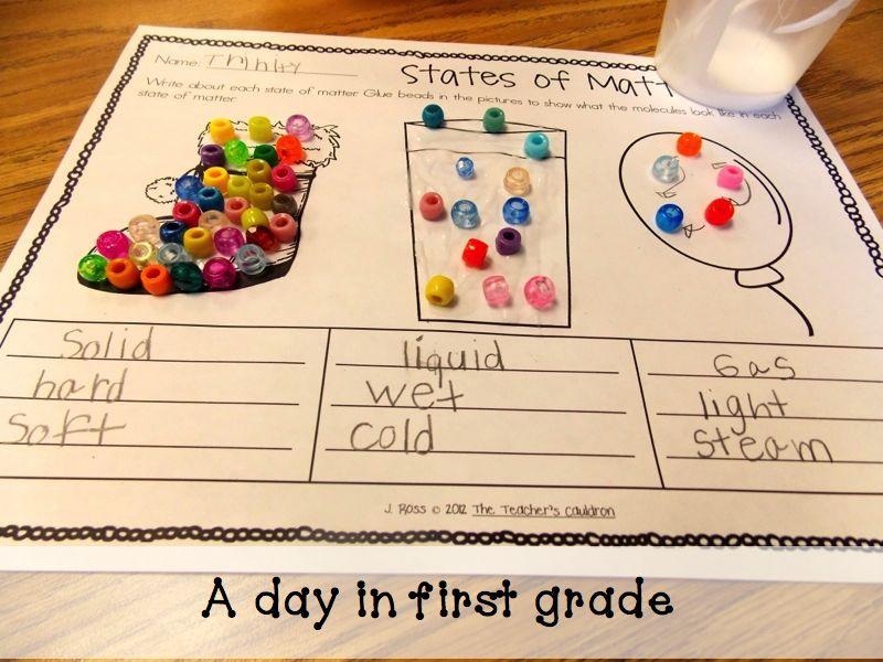 Science worksheets for 3rd grade matter