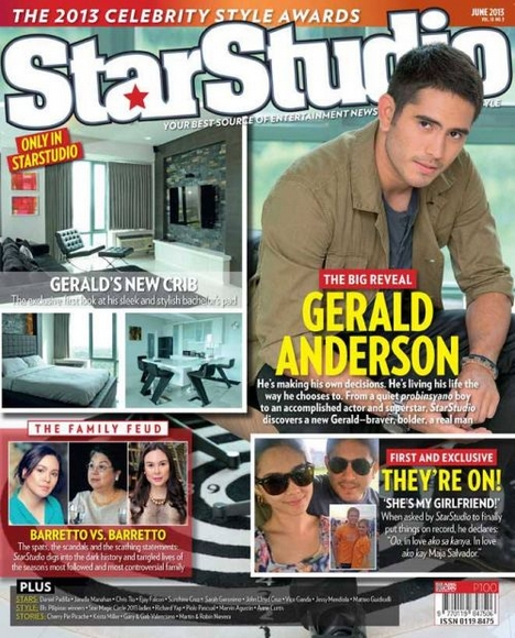 Gerald Anderson covers StarStudio June 2013 issue