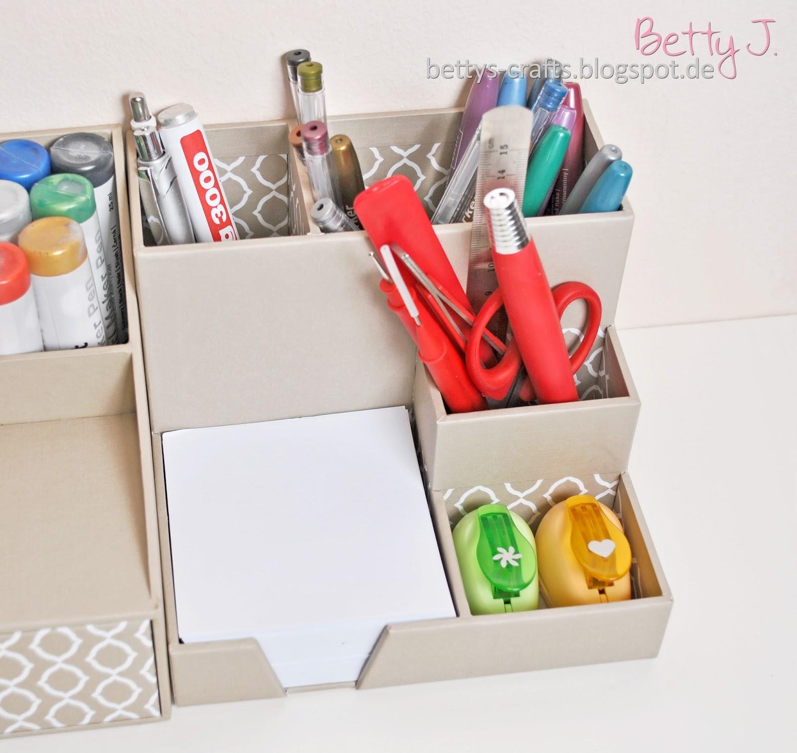 Relaxdays schreibtischorganizer aus bambus h x b x t ca for Aufbewahrungsbox selber machen