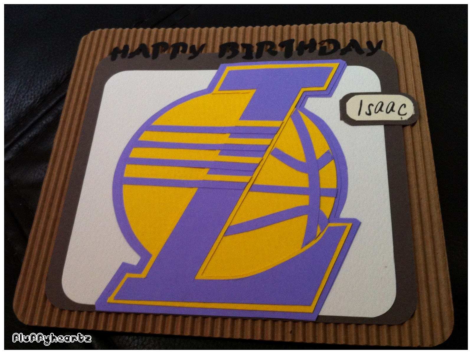 fluffyheartz ♥ birthday cards for lakers basketball team supporter, Birthday card