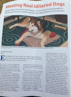 Friends~My Class is Diggin IT Linky is Under Way! Moc Iditarod Harrisburg Magazine, photo of