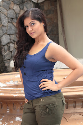 Meghana Raj hot tight sleveless dress stills