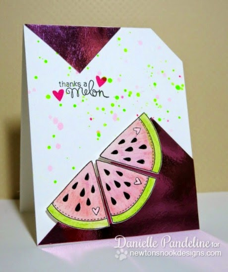 Thanks a Melon Card by Danielle Pandeline | Sweet Summer Stamp set by Newton's Nook Designs