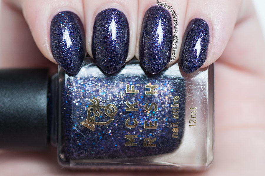 Swatch and review of Mckfresh Nail Attire Goosebumps nail polish collection Haunted Mask