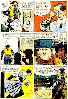 Colt .45 v1 #6 dell western 1960s silver age comic book page art by Alex Toth