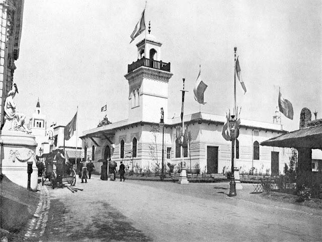 Exposition universelle de 1910 à Bruxelles - Pavillon de l'Algérie.