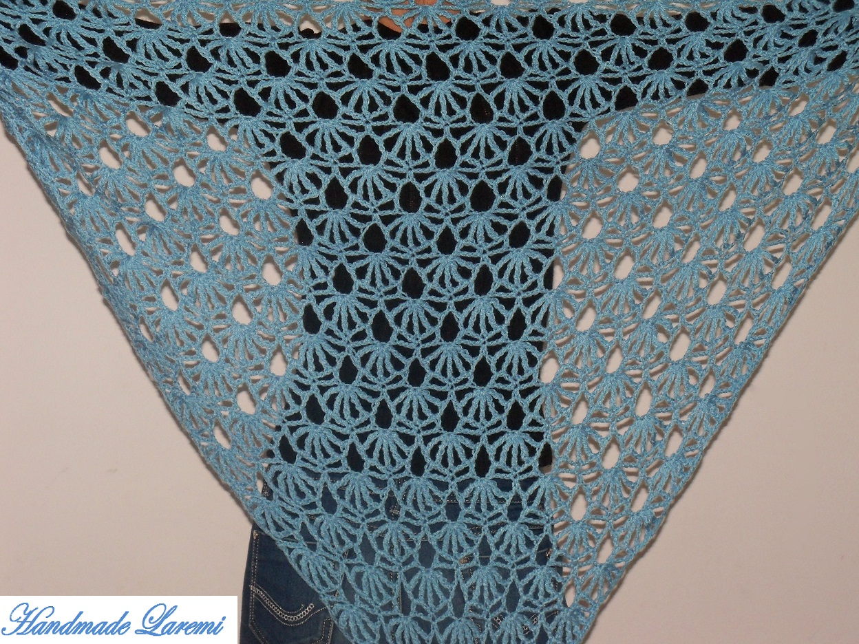 ... Hand crochet light blue shawl / Hand Crochet Shawl/ Hand crochet Scarf