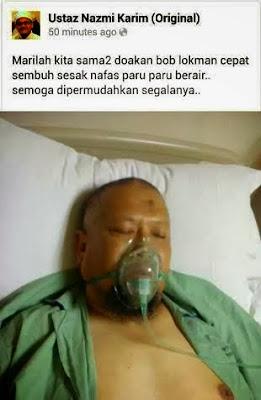 Bob Lokman Masuk Wad, Paru-Paru Berair