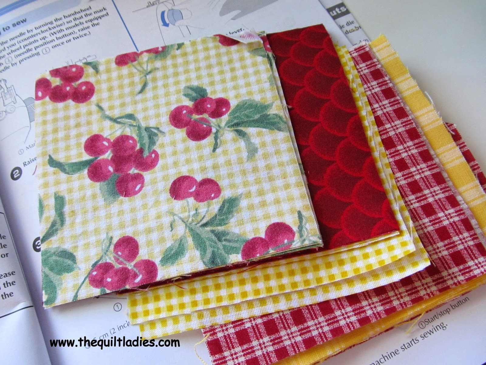 quilt fabric in plaids and solids