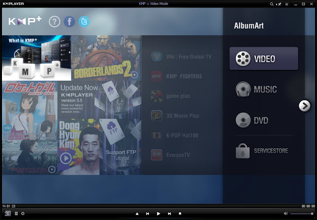 KMPlayer 3.6 - Main Interface