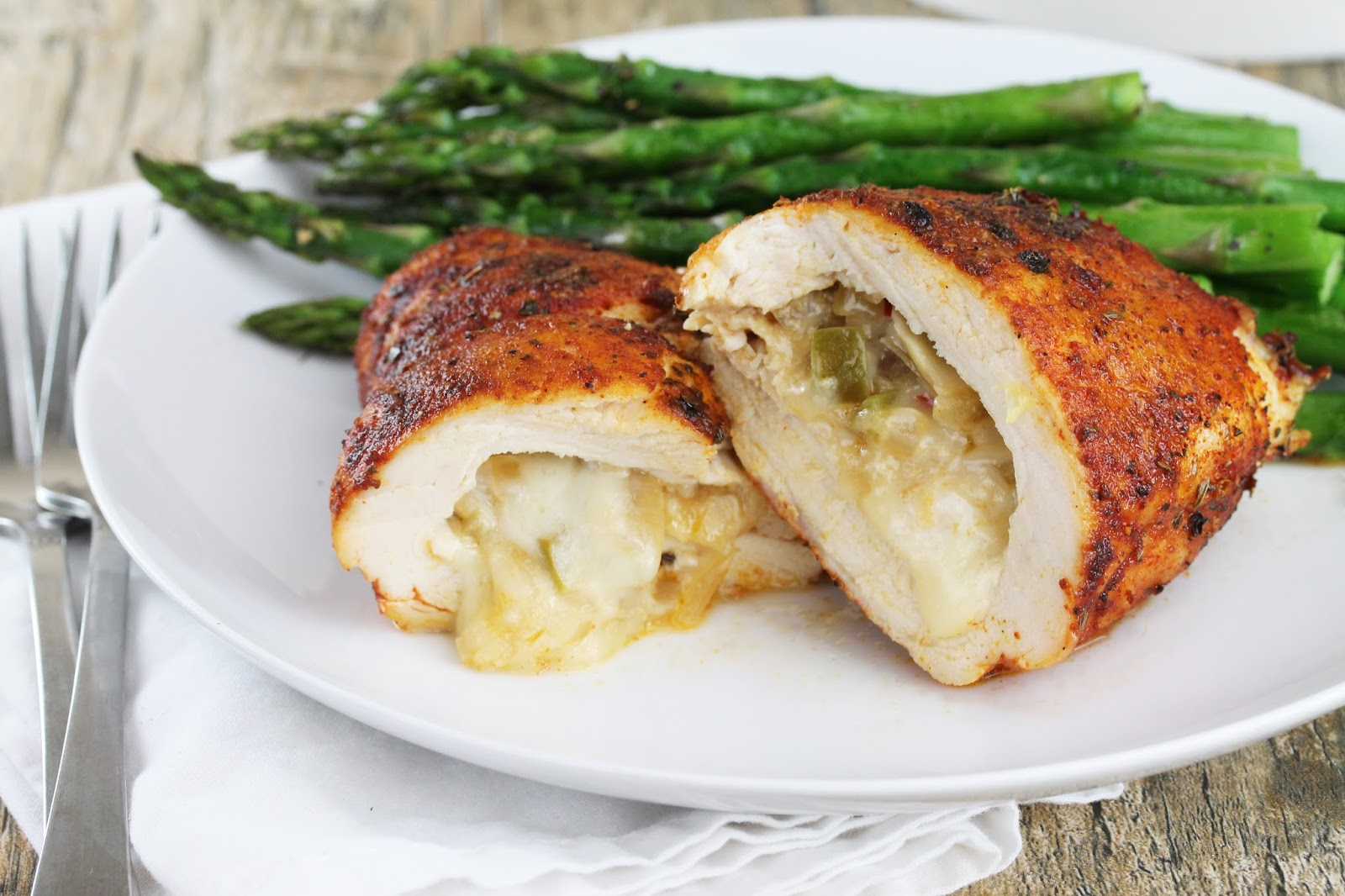 The Stay At Home Chef: Cajun Stuffed Chicken Breast