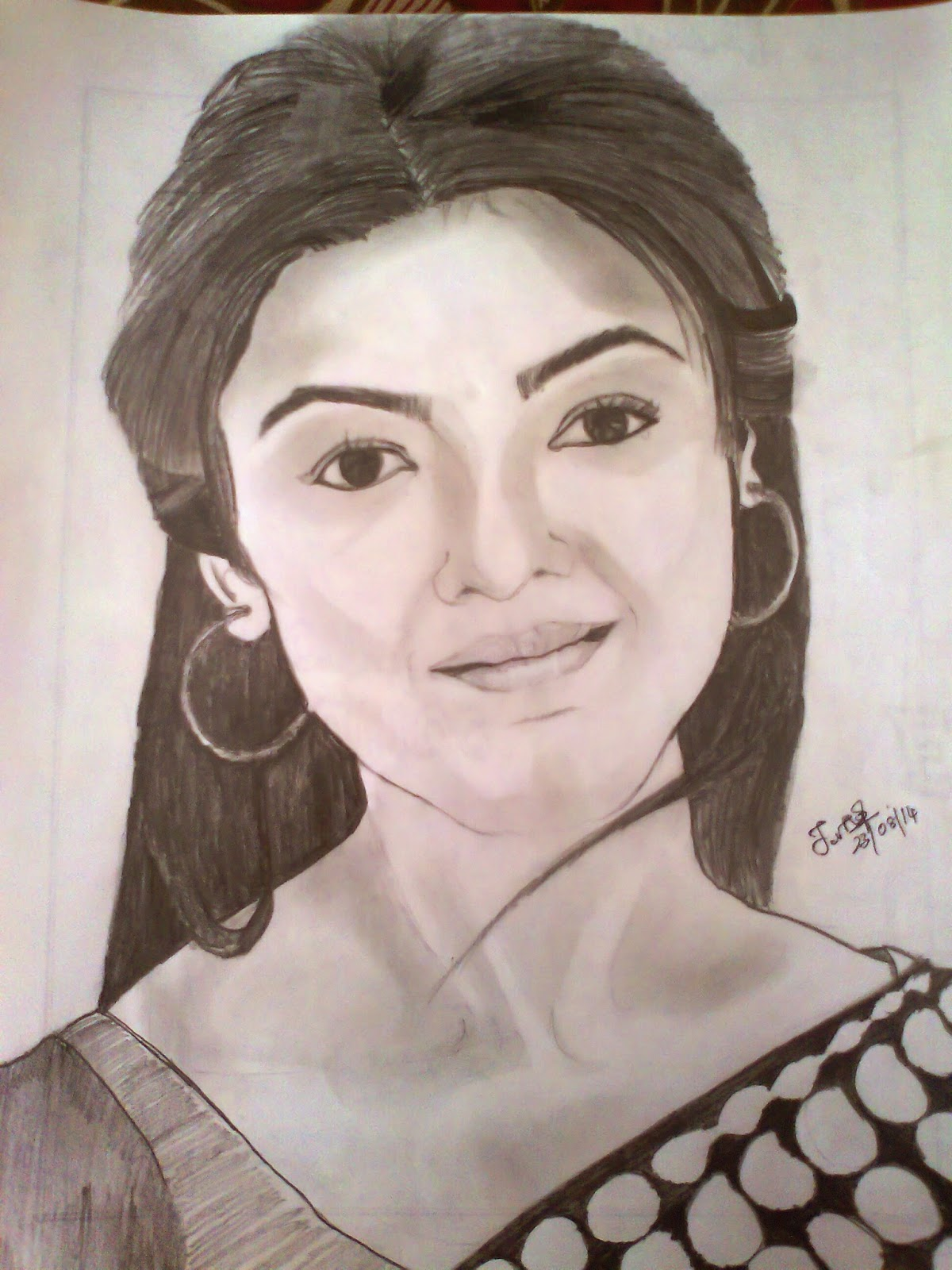 Kajal Pencil Drawing Pencil Sketch of Kajal Agarwal