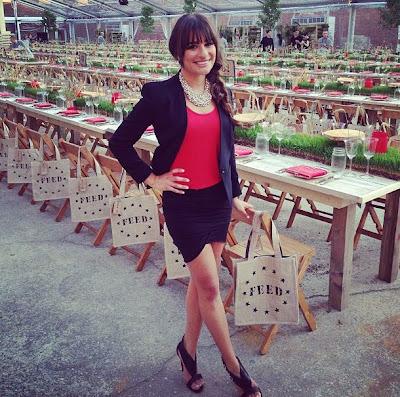 Lea Michele works the summer blazer,