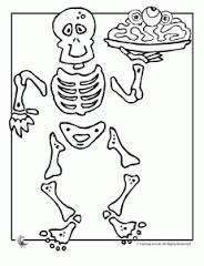 Skeleton Coloring Pages 6