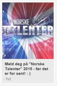 Meld dere på Norske Talenter 2015