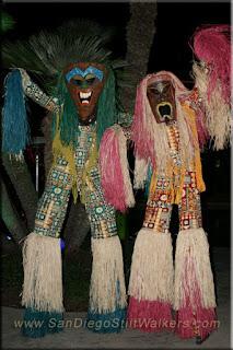 stilt walker, tiki, polynesian