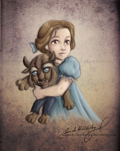 Принцессы Диснея - Страница 2 Kiriban2__child_belle__by_moonchildinthesky-d3dioev