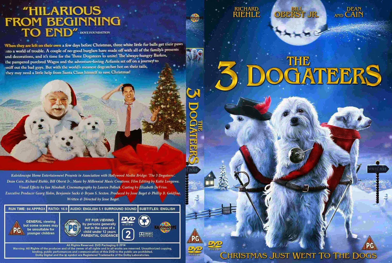 Download Os Três Cães Mosqueteiros BDRip XviD Dual Áudio The Three Dogateers  2014    Cover DVD Movie