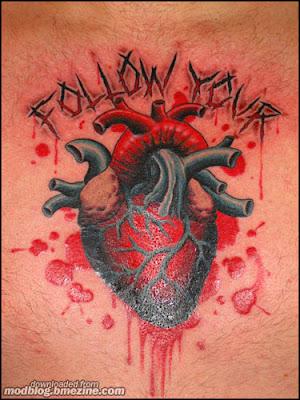 follow your heart tattoo design