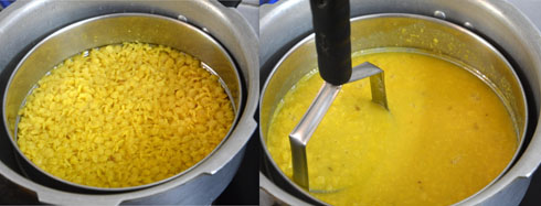 cooking tur dal