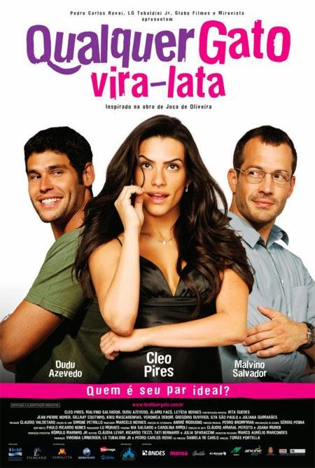 filme, cinema nacional, ver filme online, Qualquer Gato Vira-Lata, comédia romântica, Cleo Pires, Malvino Salvador, Dudu Azevedo