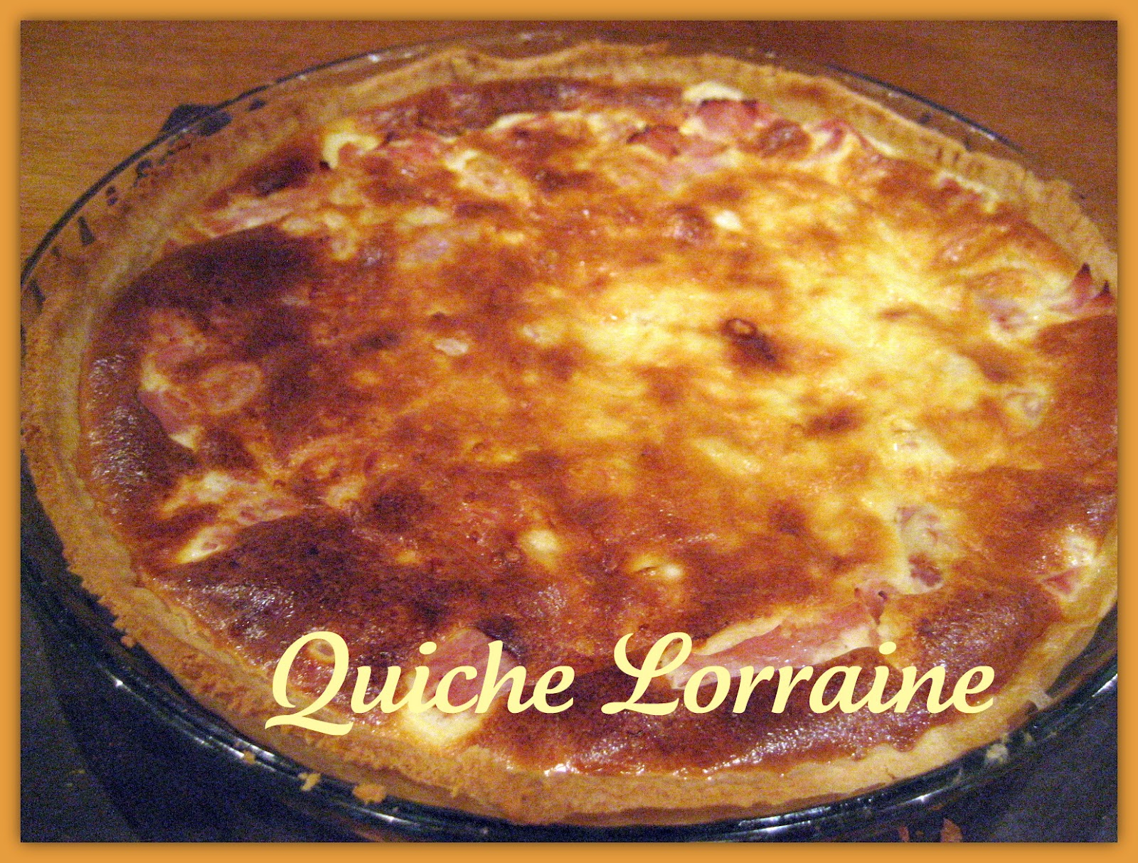 PEBBLE SOUP: A French Classic : Quiche Lorraine