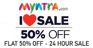 Myntra 24 Hour Sale: Flat 50% Discount on Brands like Nike, Adidas and more