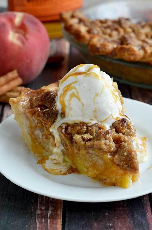 Maple bourbon brown butter peach pie ...