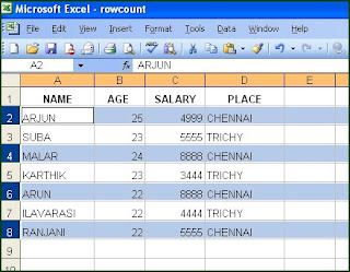 How to Select Every Nth row in Excel