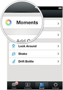 moment aplikasi wechat