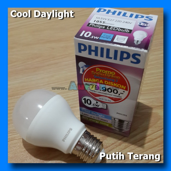 lampu led philips 10.5 watt cool daylight