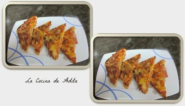 Canapés - Pizzas Con Salsa Barbacoa
