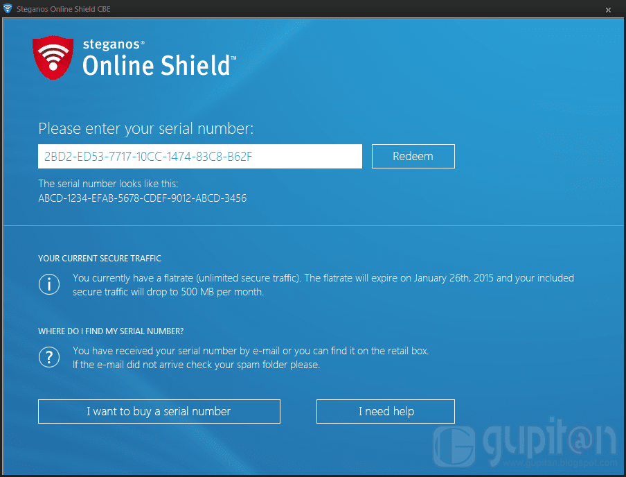 Steganos Online Shield CBE Edition Free 1 year