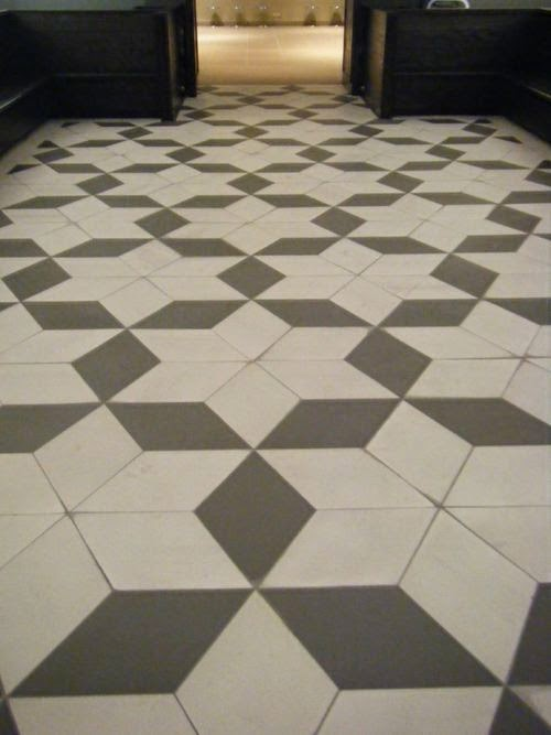 Floor Pattern Designs Ceramics Black White