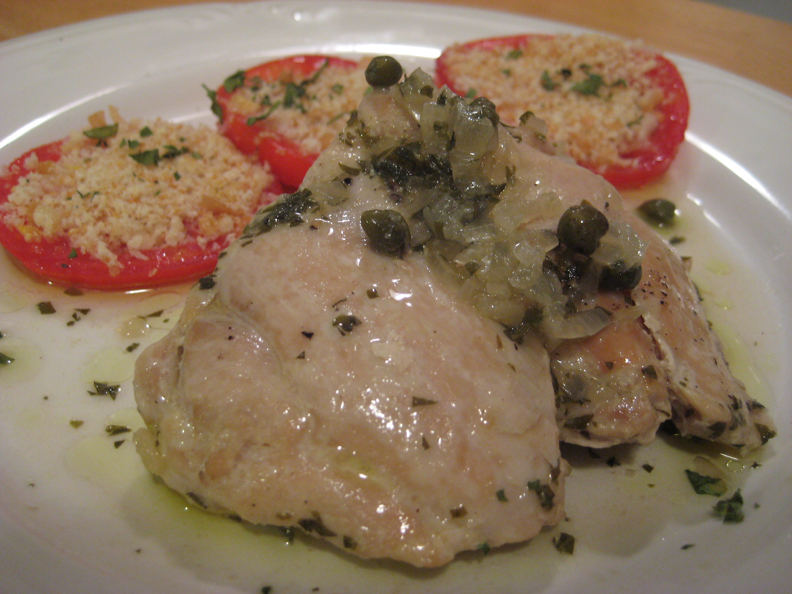 ... lemon capers fennel dusted chicken with brown butter and capers