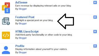 Featured Post, Widget Blogger Terbaru (Fungsi, Manfaat dan Cara Pemasangannya)