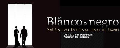 Festival Internacional de Piano En Blanco y Negro en el Centro Nacional de las Artes