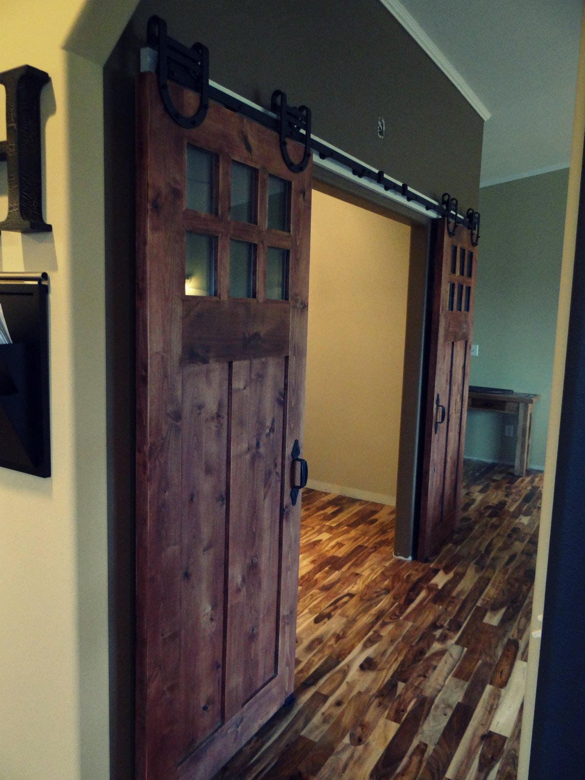 At home with the hammonds simple things sunday sliding barn doors - Sophisticated black interior doors ...