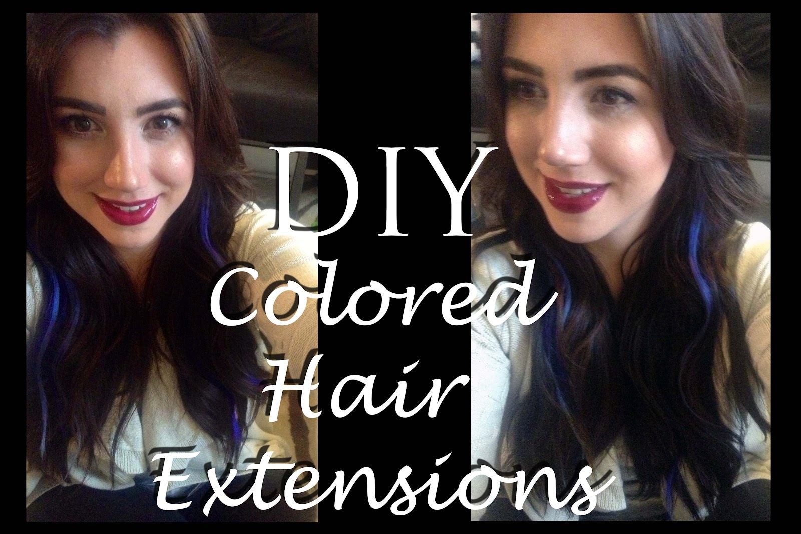 Diy Colored Hair Extensions Tutorial Makeup Beauty Tips Tricks