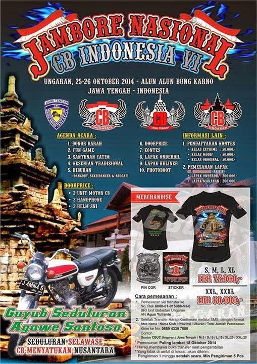 Acara CB Jambore Nasional CB Indonesia 2014