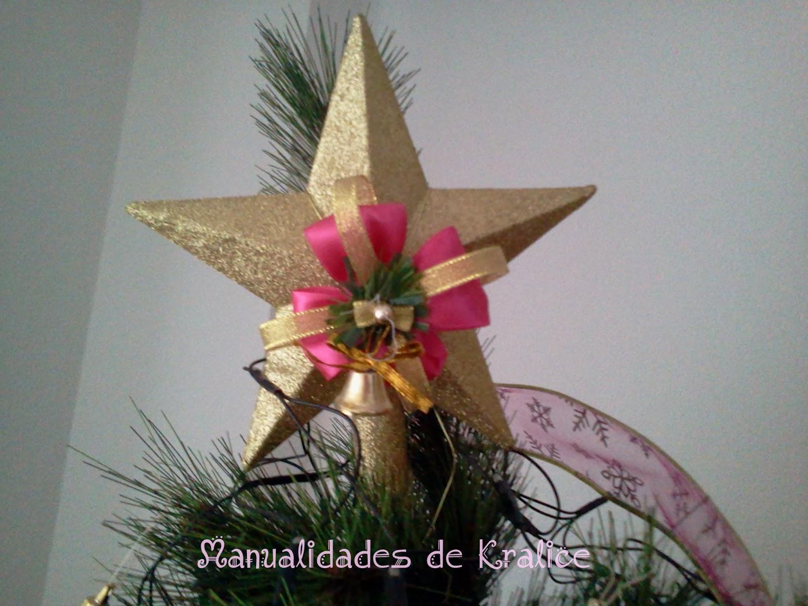 C mo decorar la estrella del arbolito de navidad - Decorar estrella navidad ...