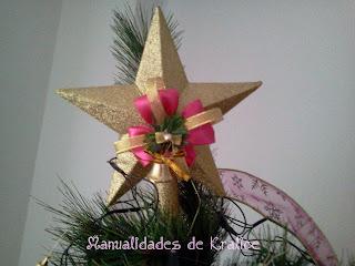 cmo decorar la estrella del arbolito de navidad