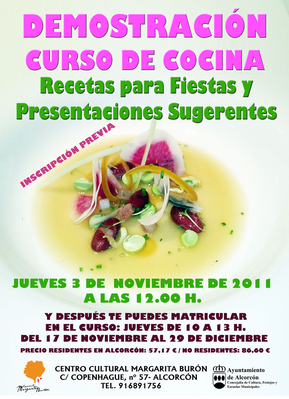 Demostraci n curso de cocina centro cultural cooperante - Curso de cocina para solteros ...