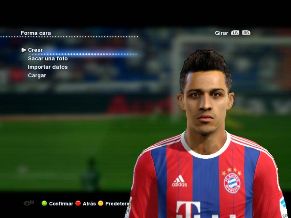 PES 2013 New Face and Hair Thiago 2015 By B. Molina
