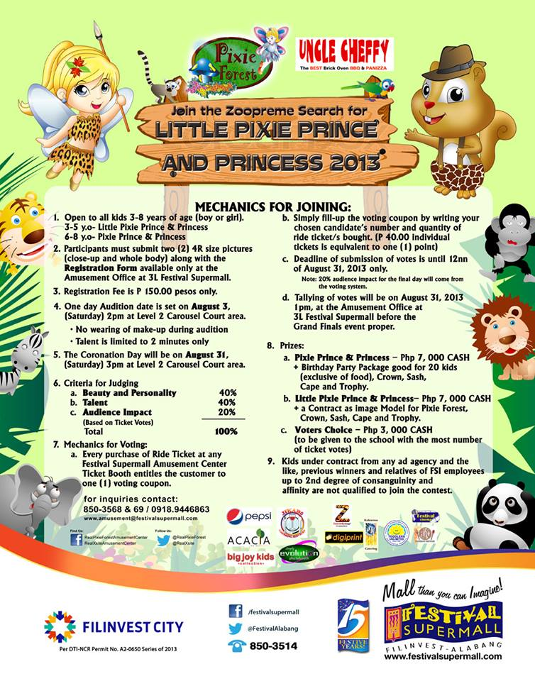 Live Nation Coupon >> Joy of June: Pixie Forest's Little Pixie Prince and Princess