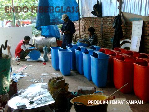 Jual Tempat Sampah Fiberglass Organik Non Organik