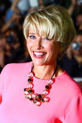 Emma Thompson short haircut with bangs